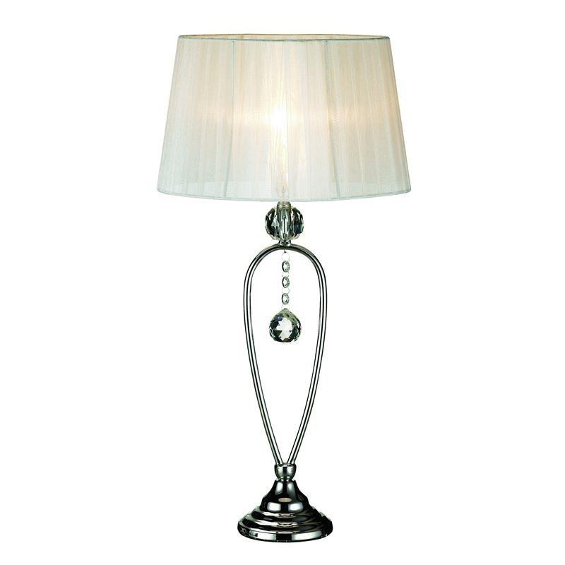 Biela stolová lampa Markslöjd Christinehof