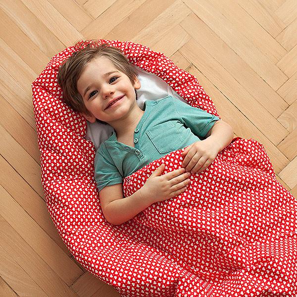 Detský spací vak Bartex Srdiečka, 70x165cm