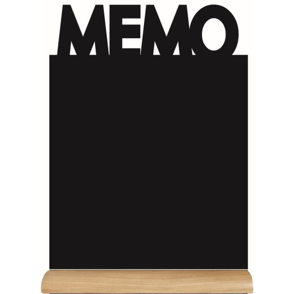 Set popisovacej tabule na stojane a kriedového popisovača Securit Silhouette Memo, 35 x 21 cm