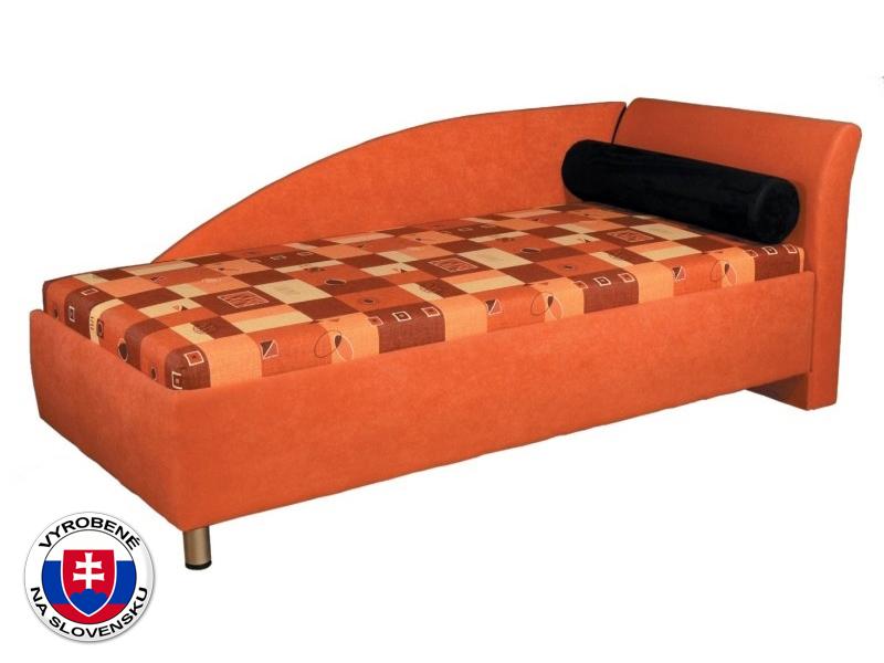 Jednolôžková posteľ (váľanda) 90 cm Perla (s molitanovým matracom) (P)