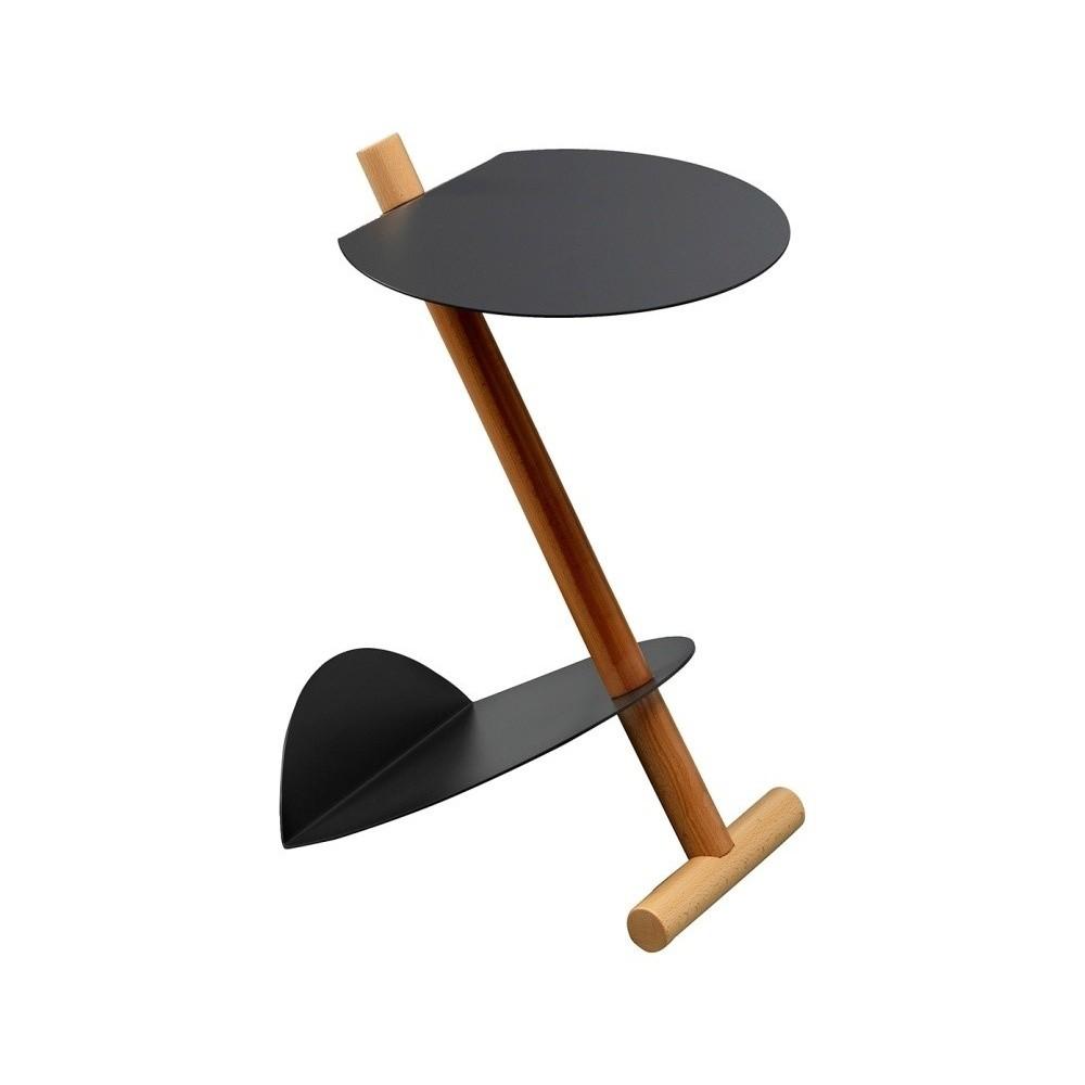 Čierny odkladací stolík Design Twist Lake