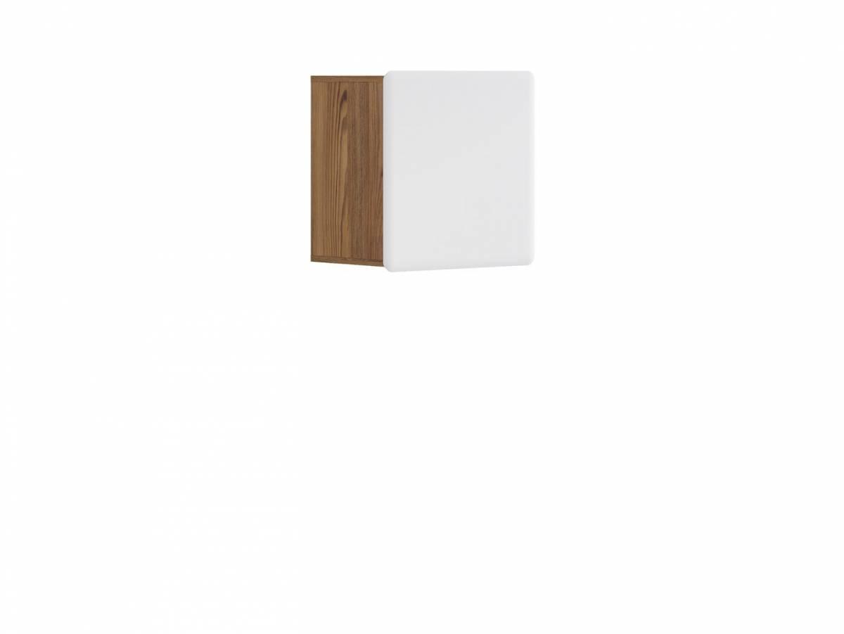 Skrinka na stenu Possi Light SFW1D/5/5 (smrekovec sibiu zlatý + lesk biely)