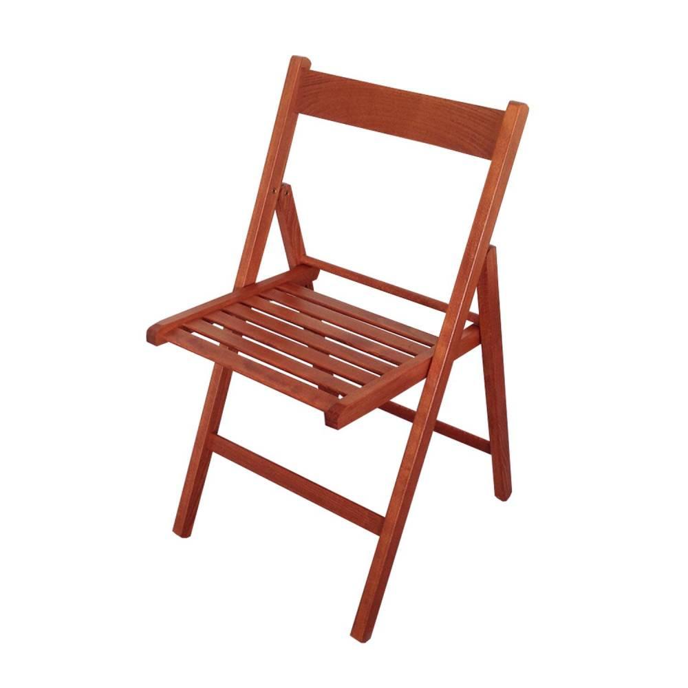 Skladacia stolička lak čerešňa