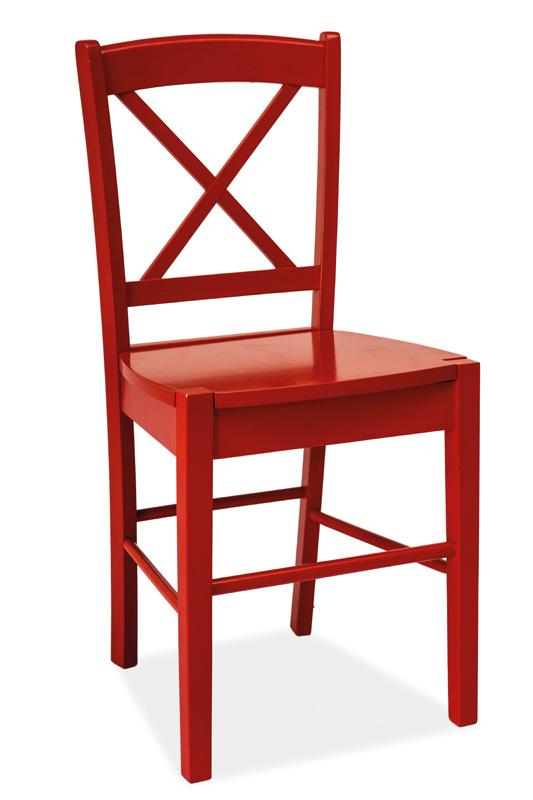 SIGNAL CD-56 jedálenská stolička - červená