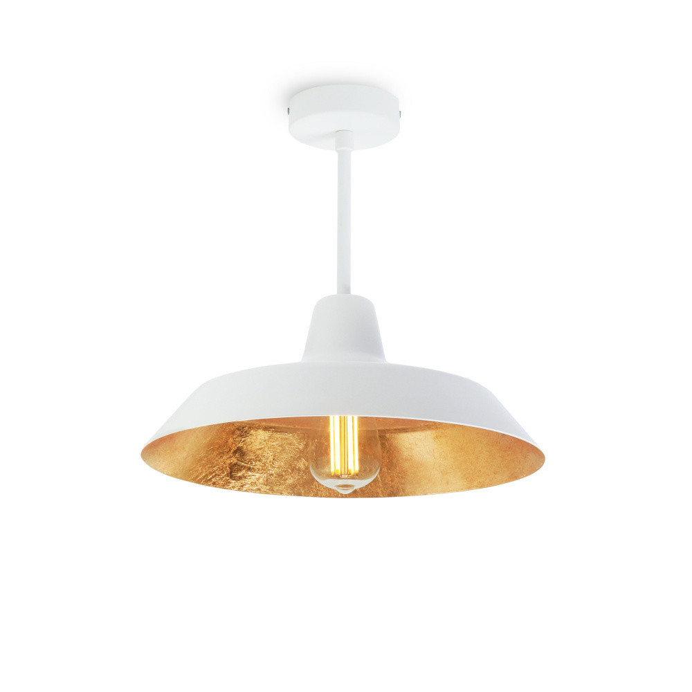 Bielo-zlaté stropné svietidlo Bulb Attack Cinco Basic