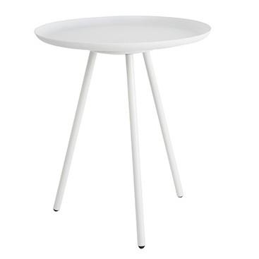 Odkladací stolík Frost, biely