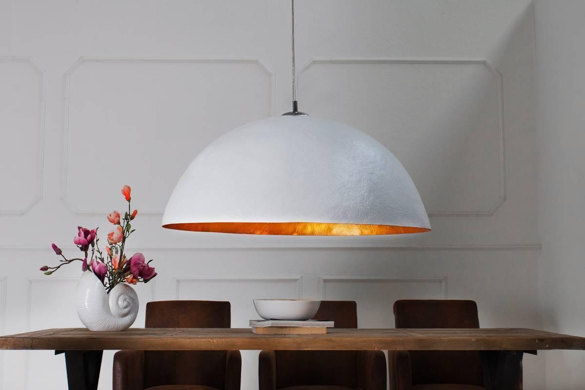 Visiaca lampa BLAZE 70 cm -  biela, zlatá