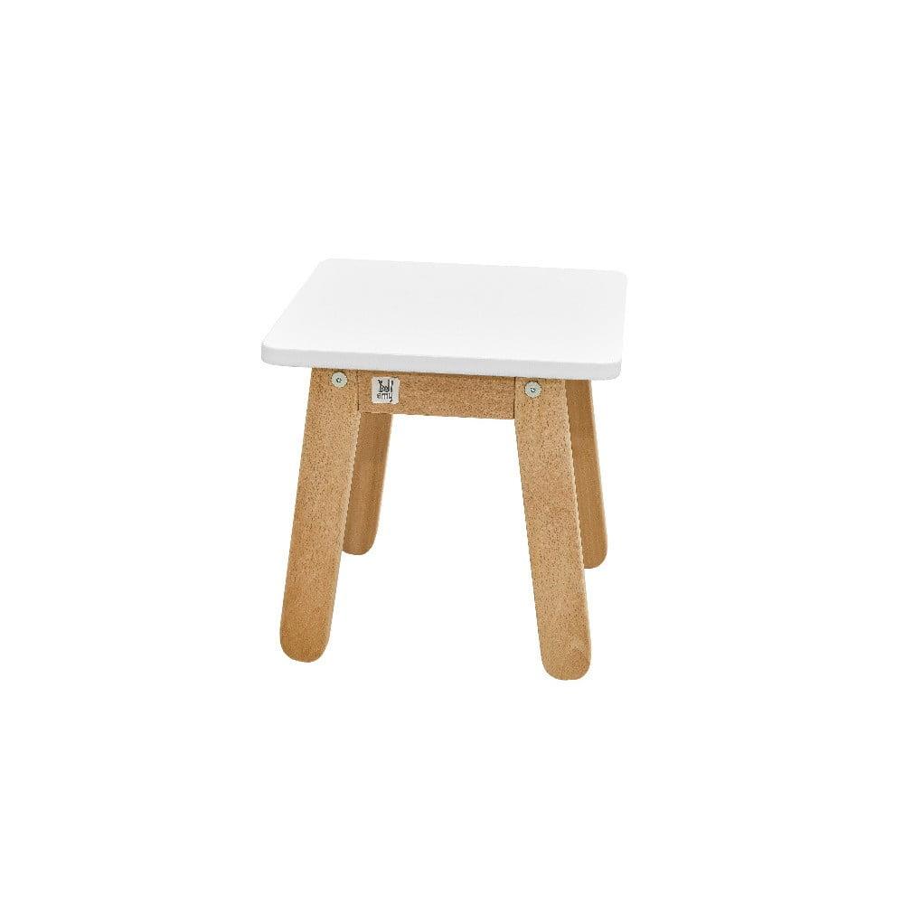Biela detská stolička BELLAMY Woody