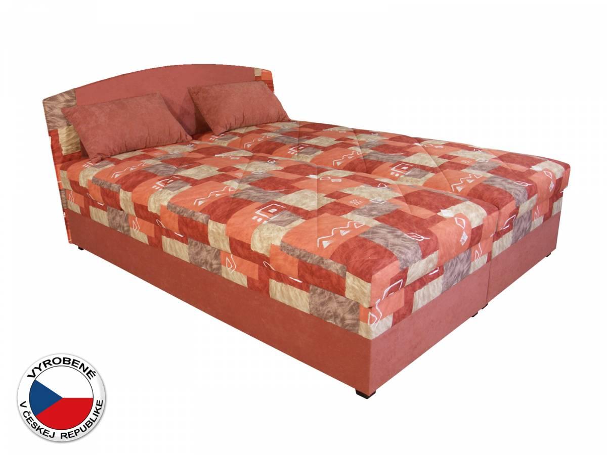 Manželská posteľ 180 cm Blanár Kappa (vzor Mollino 690-40 + oranžová) (s roštom a matracom)