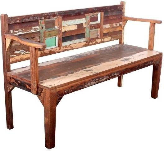 SPIRIT lavica #75 lakované staré indické drevo
