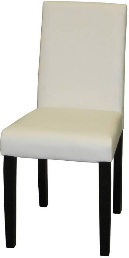 Stolička PRIMA biela/hnědá