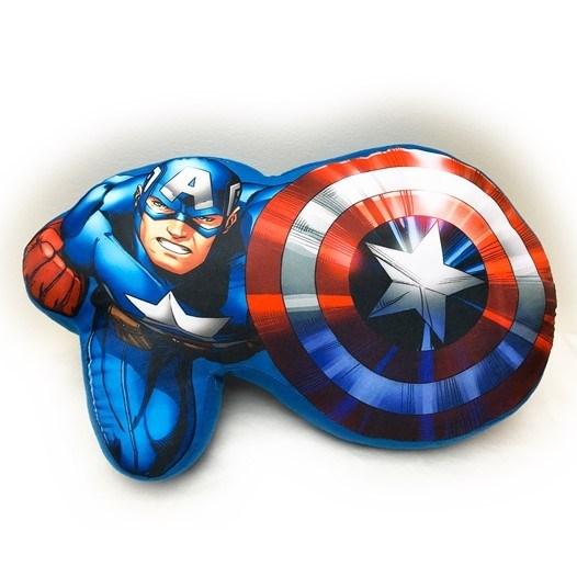 Jerry Fabrics Tvarovaný vankúšik Avengers, 34 x 30 cm