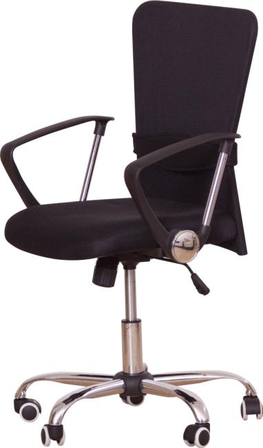 Kancelárske kreslo s čiernym sedákom, čierna opierka, AEX