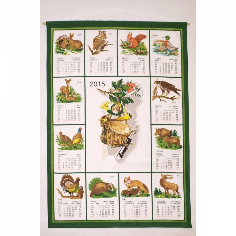 Forbyt Textilný kalendár 2015 Poľovnícky, 45 x 65 cm