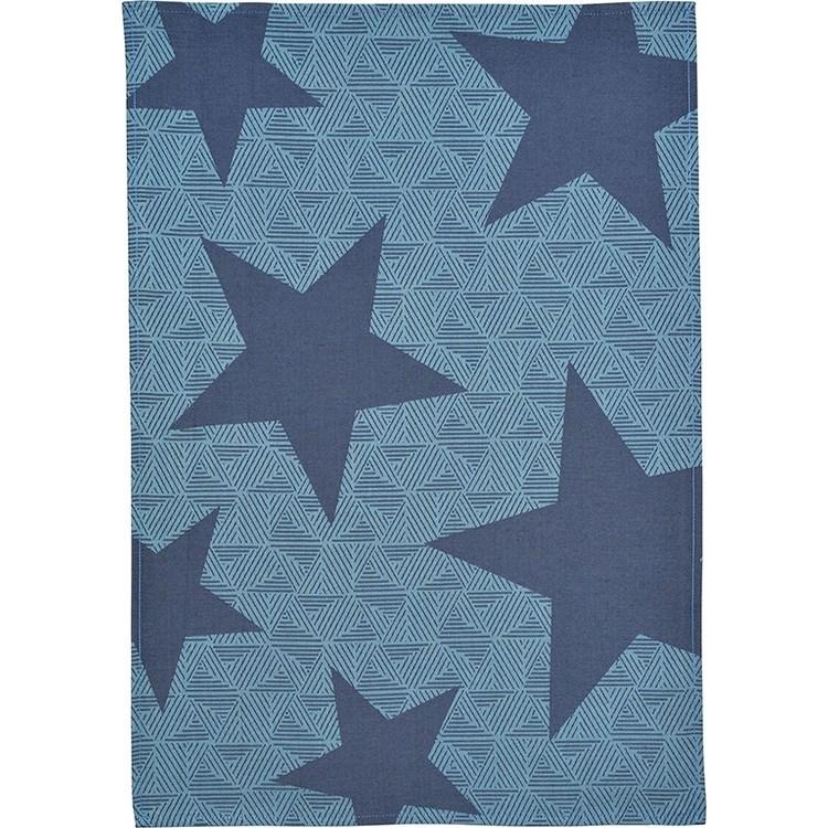 Sander Kuchynská utierka Pop star modrá 50 x 70 cm
