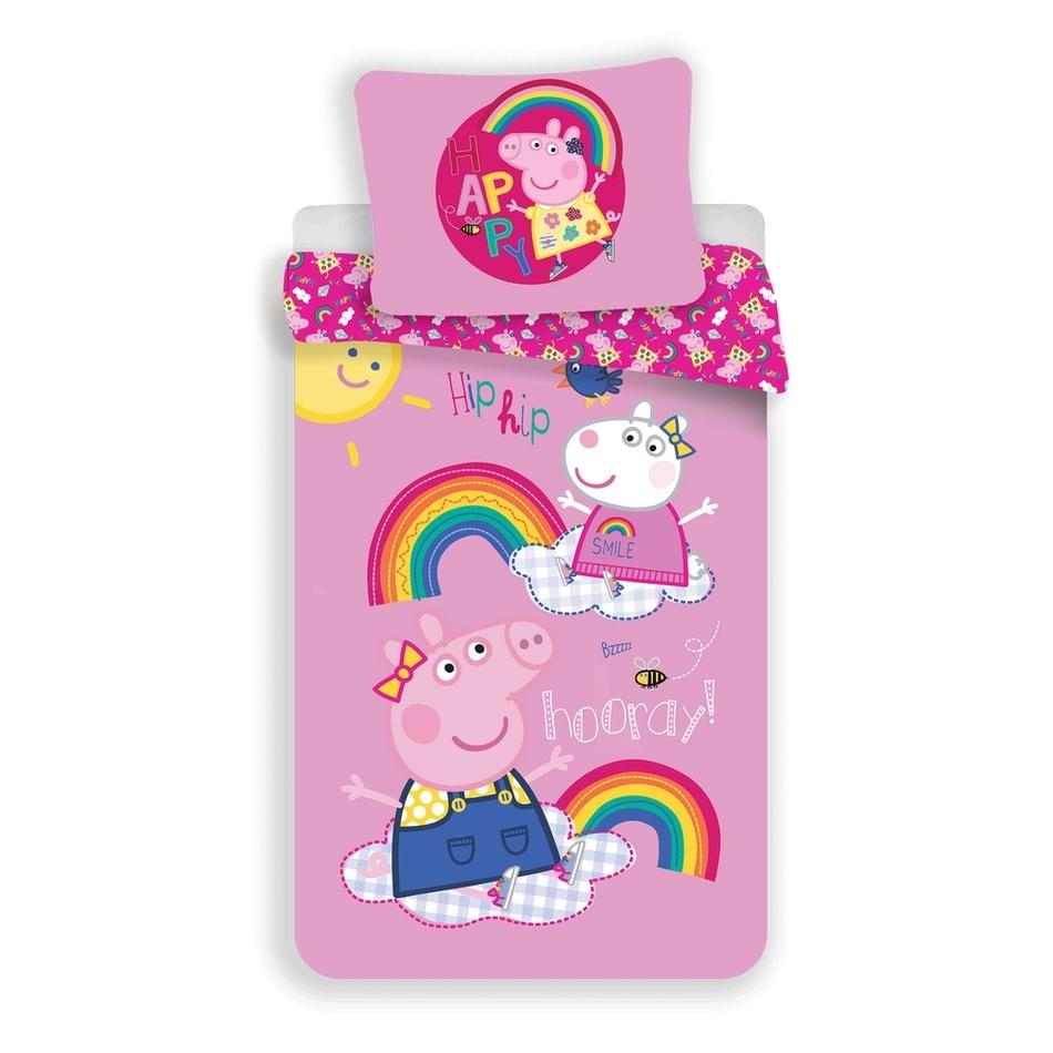 Jerry Fabrics Detské bavlnené obliečky Peppa Pig 014, 140 x 200 cm, 70 x 90 cm