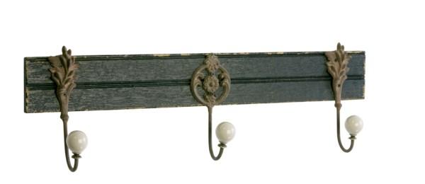 Nástenný vešiak COLLIN - antická čierna