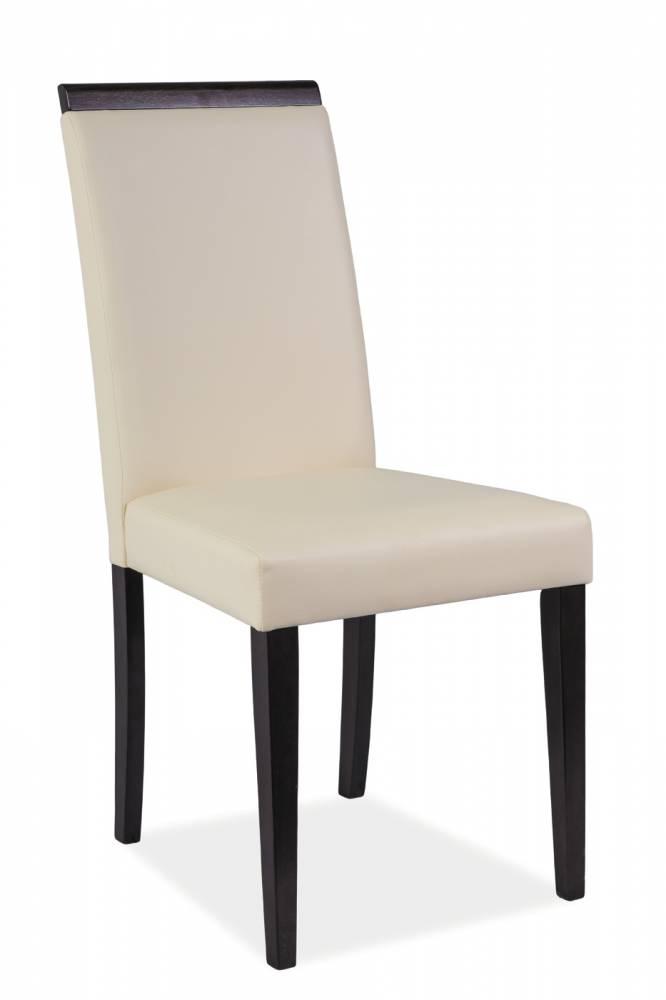 Jedálenská stolička CD-77 (krémová + wenge)