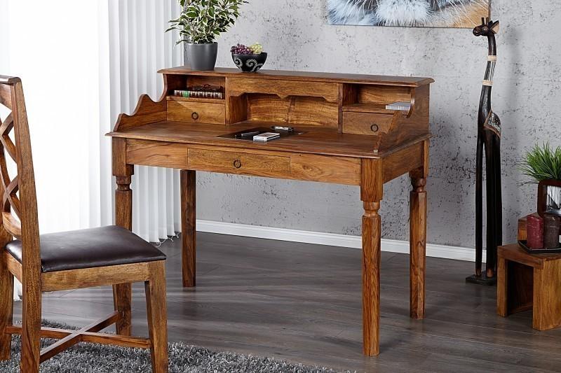 Písací stôl MAKASSAR SECRET - prírodná