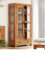Furniture nábytok  Masívna polica / knižnica / vitrína z Palisanderu  Šabnáz  100x42x175 cm
