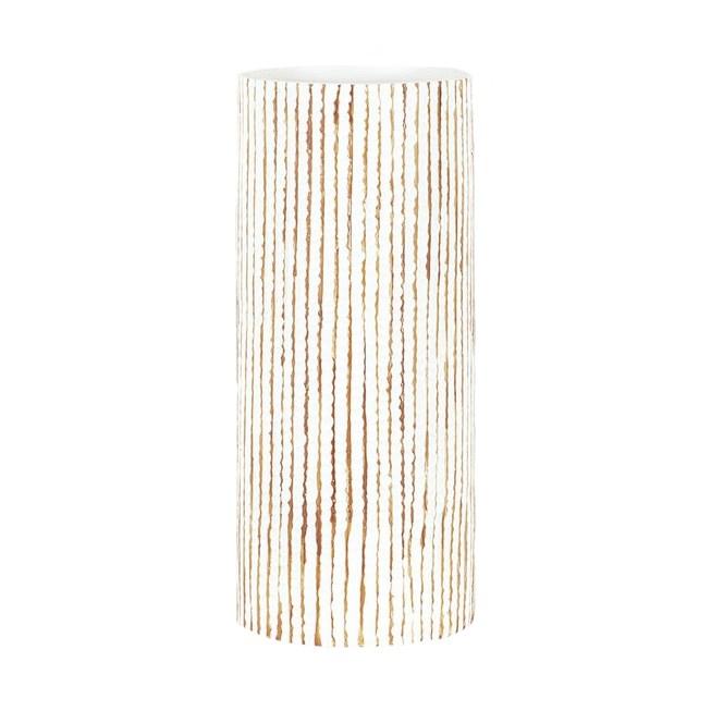 Autronic Polyresinová váza Stripe béžová, 35,5 cm