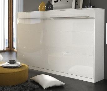 Sklápacia posteľ Concept pro CP-04 / 140x200   Farba: biely lesk / biela