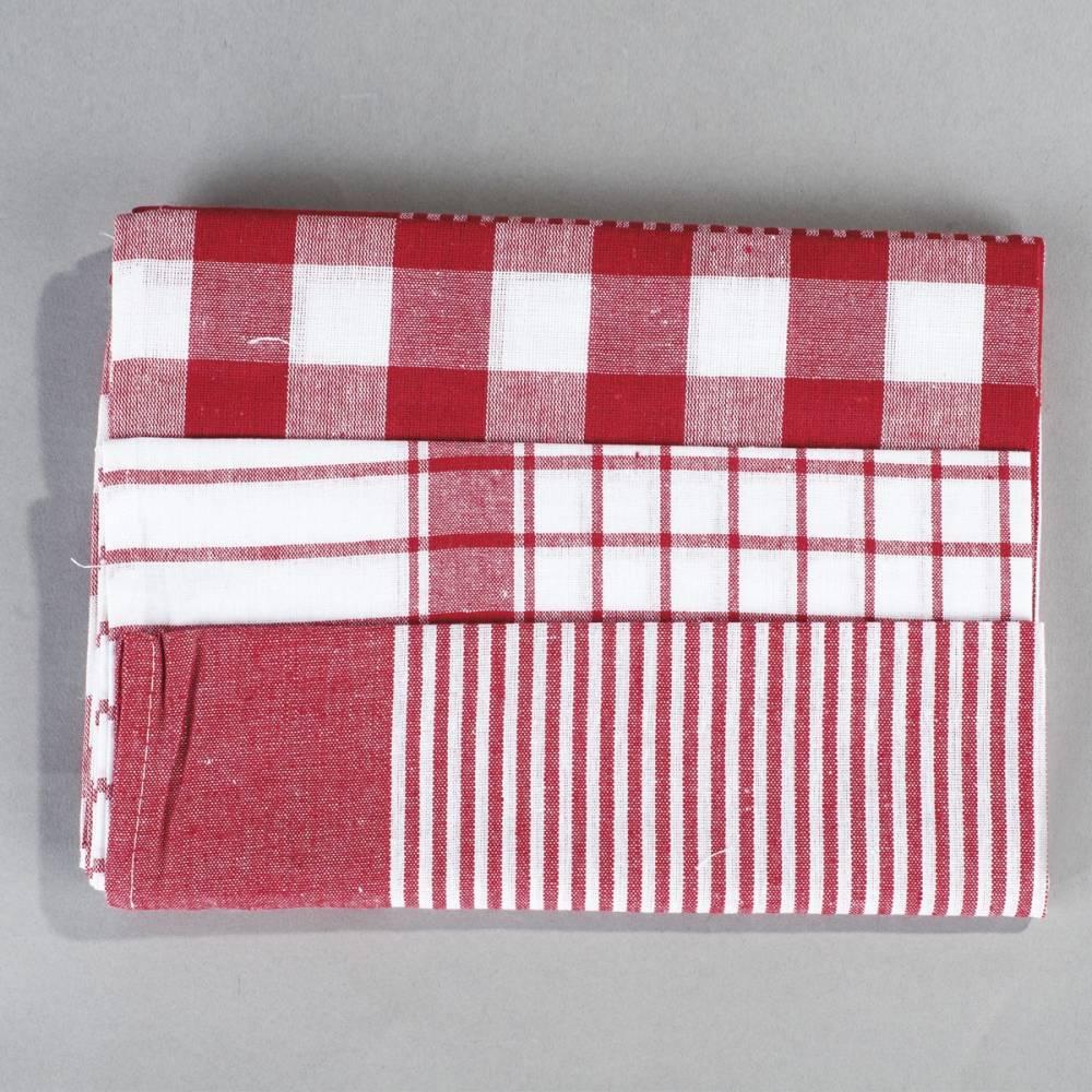 Jahu Sada kuchynských utierok mix červená, 50 x 70 cm, 3 ks