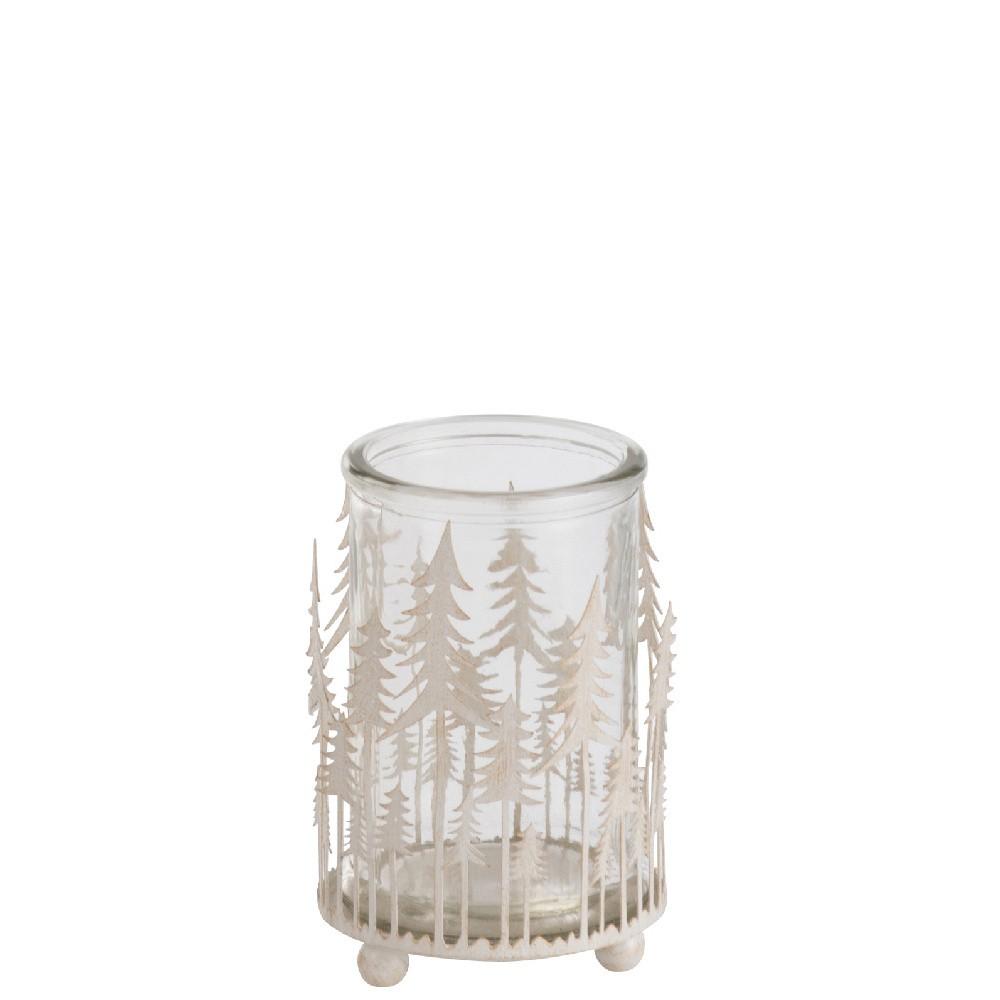 Biely svietnik J-Line Glitter Tree