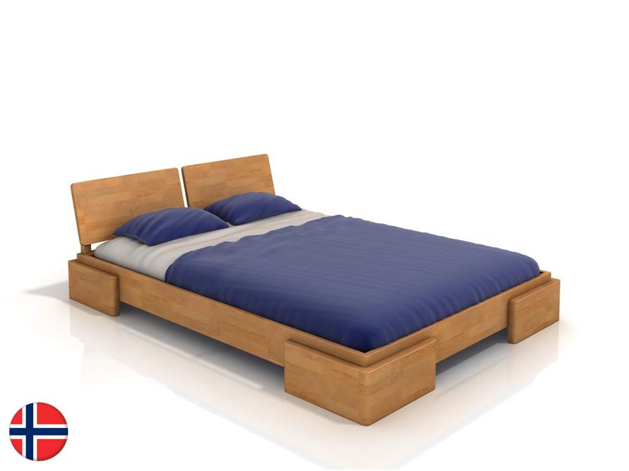 Manželská posteľ 180 cm Naturlig Jordbaer (buk) (s roštom)