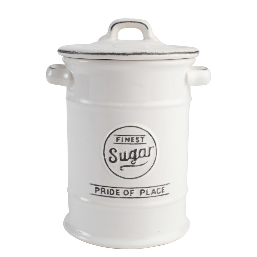 Keramická dóza na cukor PrideofPlace, biela