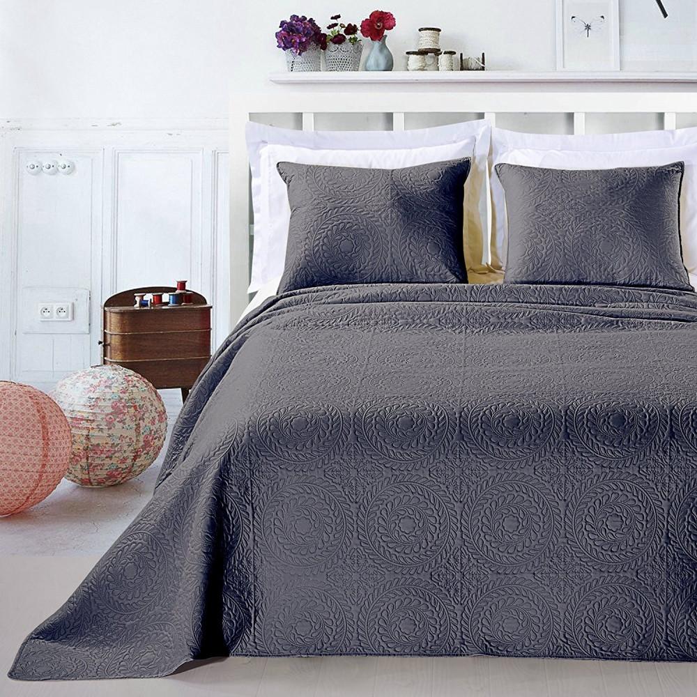 Sivá posteľná sada z mikrovlákna DecoKing Elodie, 240x260cm
