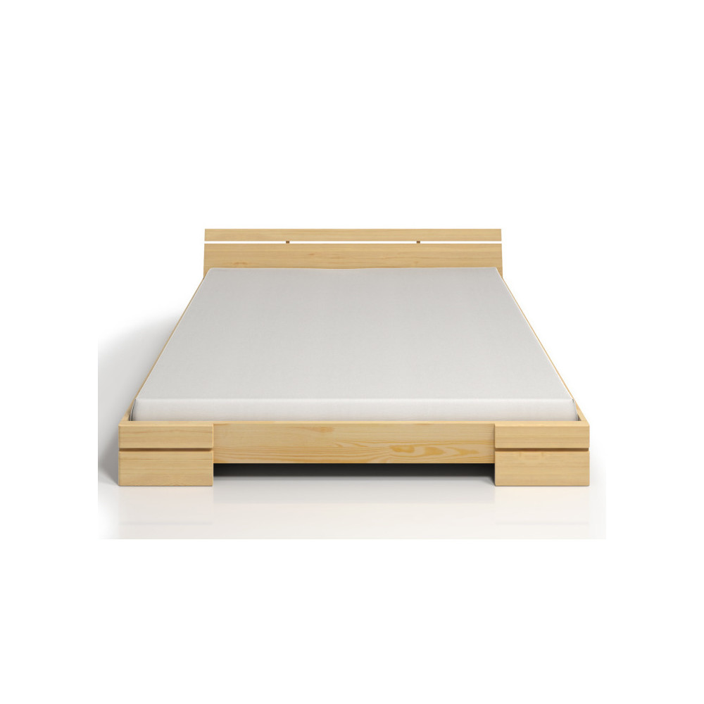 Dvojlôžková posteľ z borovicového dreva s úložným priestorom SKANDICA Sparta Maxi, 160x200cm