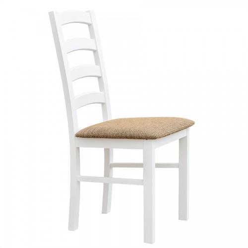 Biely nábytok Stolička Belluno Elegante 01, čalúnenie PALERMO 123