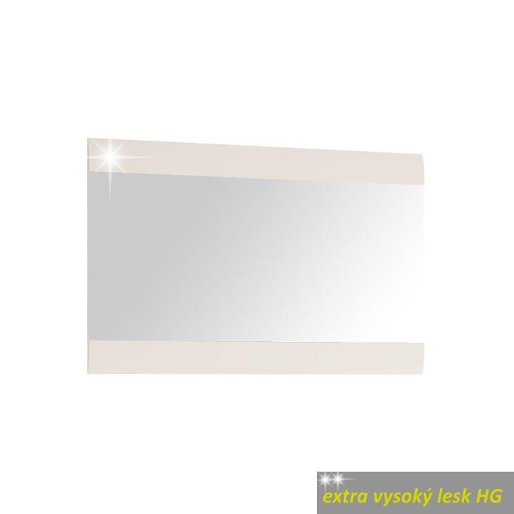 TEMPO KONDELA Zrkadlo 122, biele, extra vysoký lesk, LYNATET TYP 122