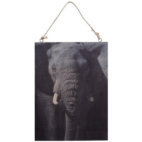 Koopman Obraz na dreve Slon, 28,5 x 20,5 cm