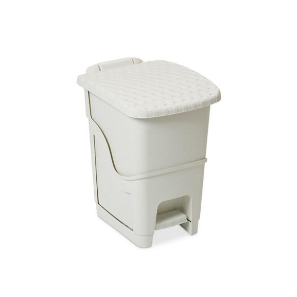 Ratanový odpadkový kôš 18 l, biela