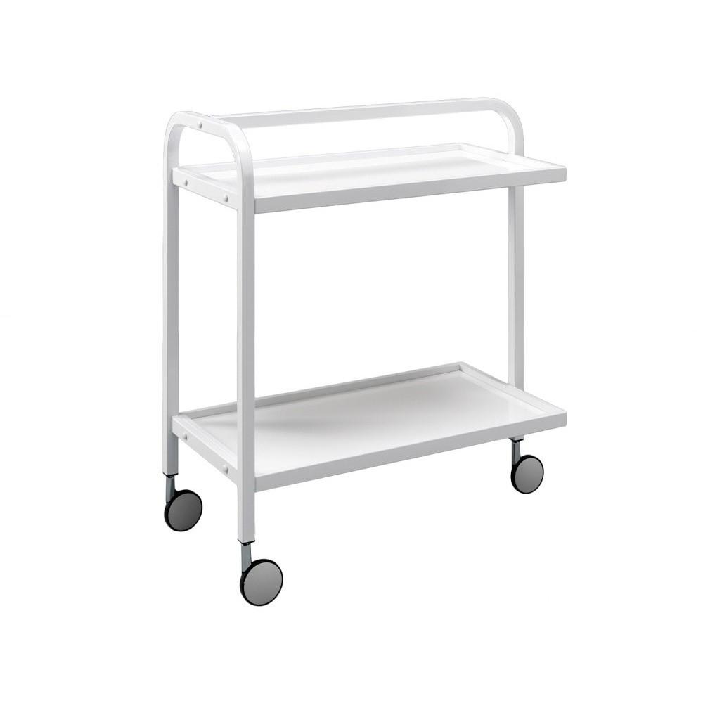 Biely pojazdný servírovací stolík Design Twist Kansk