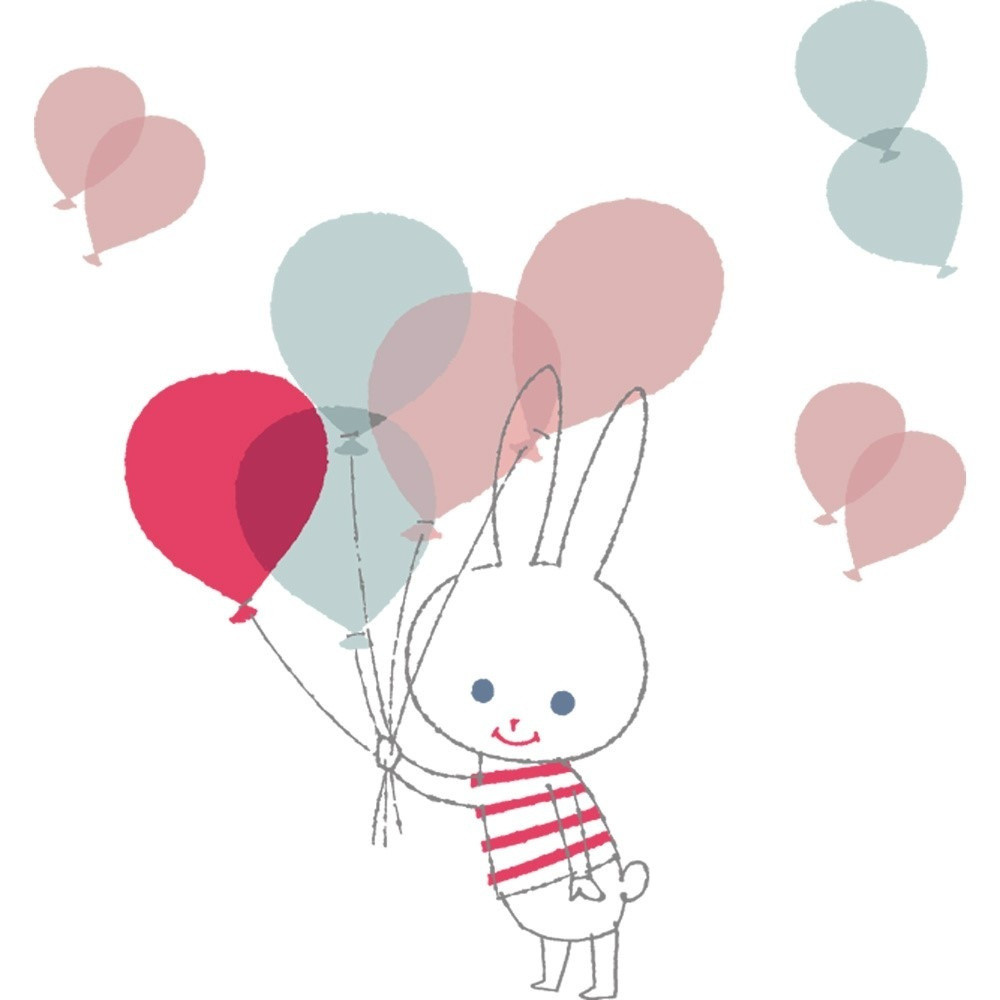 Nástenné samolepky Art For Kids Balloon Rabbit