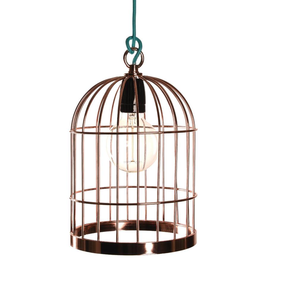 Medené závesné svetlo Filament Style Bird Cage