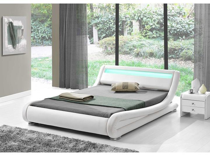 Manželská posteľ 160 cm Filida (s roštom a LED)
