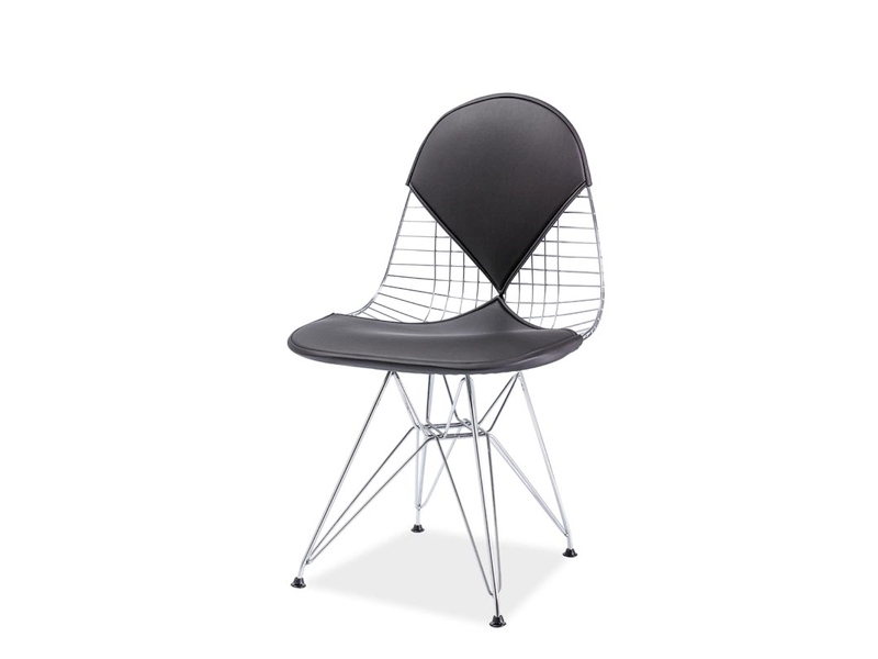 LENTA II jedálenská stolička, chróm/čierna