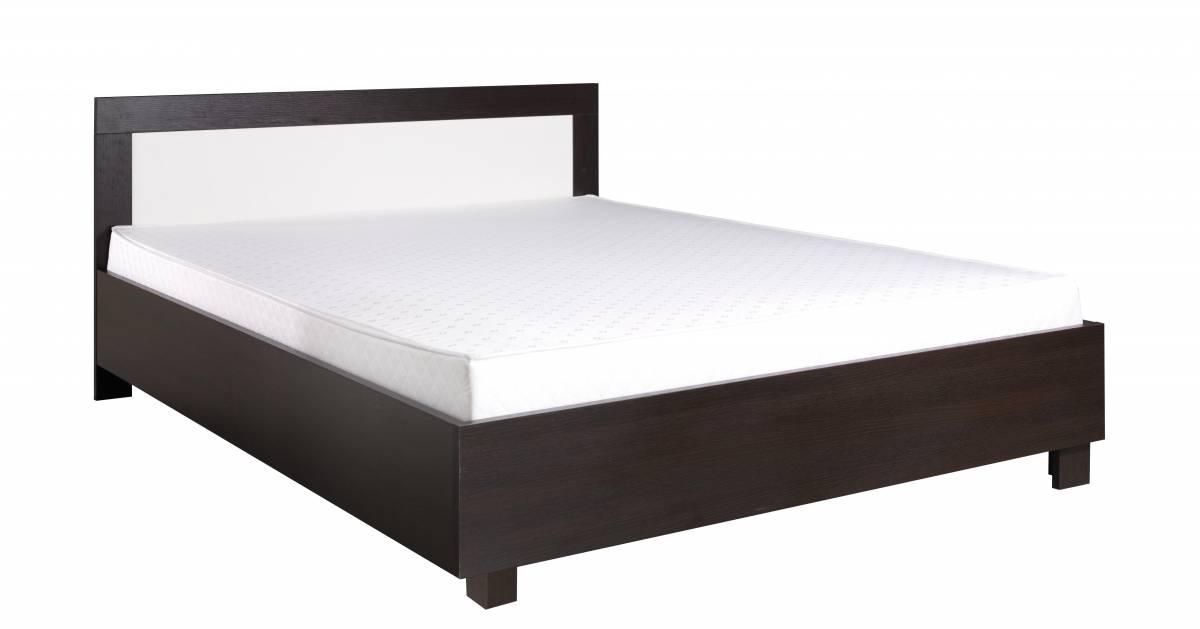 Manželská posteľ 160 cm C22 (milano + krémová) (s matracom a roštom)