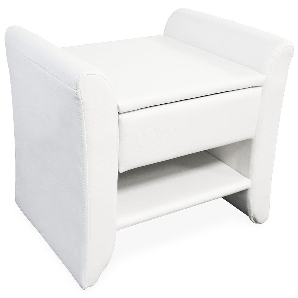 Corium® Elegantný nočný stolík - 47 x 37 x 44 cm - biely