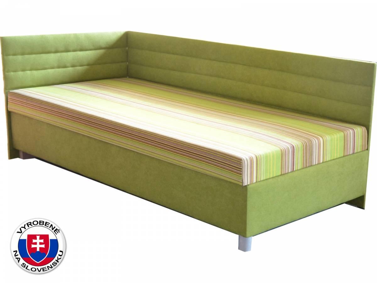 Jednolôžková posteľ (váľanda) 100 cm Etile 2 (so sendvičovým matracom) (L)