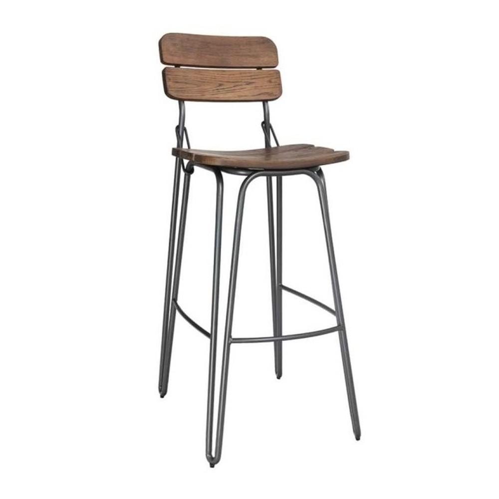 Drevená barová stolička VIDA Living delta, výška 93 cm