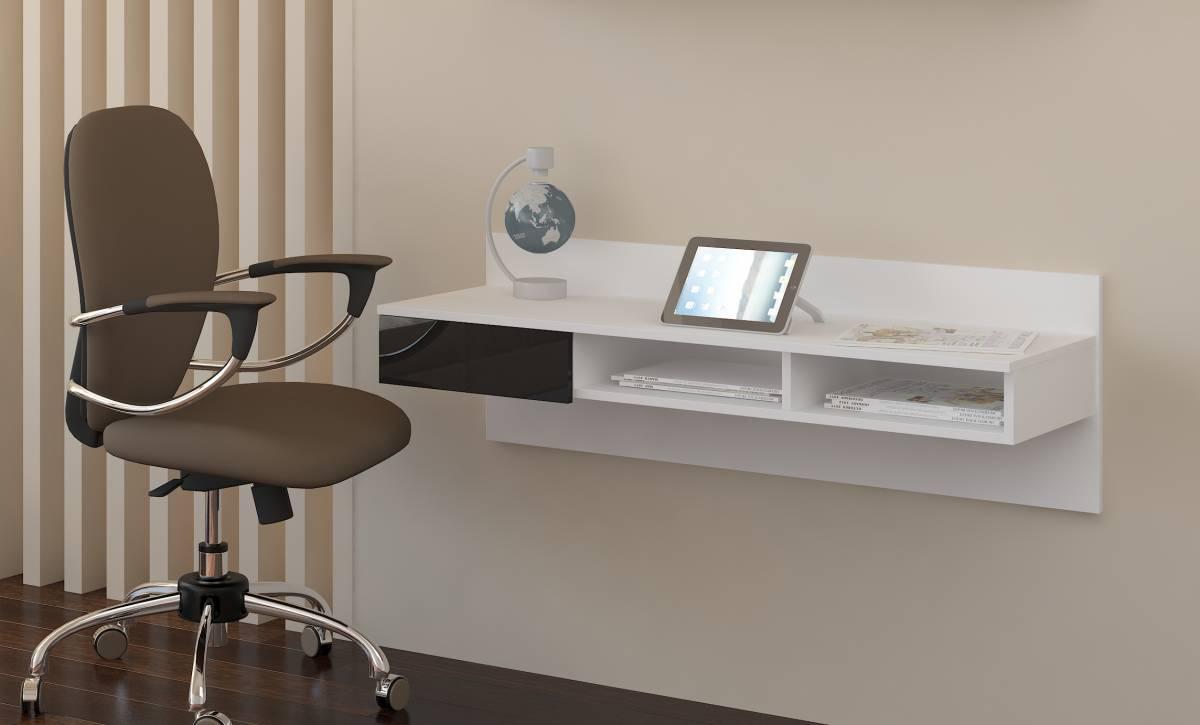 PC stolík Uno biela + lesk čierny
