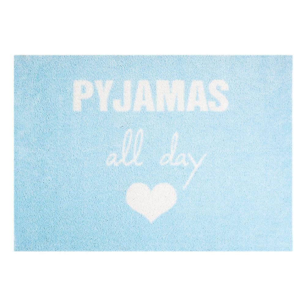 Modrá rohožka Mint Rugs  StateMat Pyjamas All Day, 50x75cm