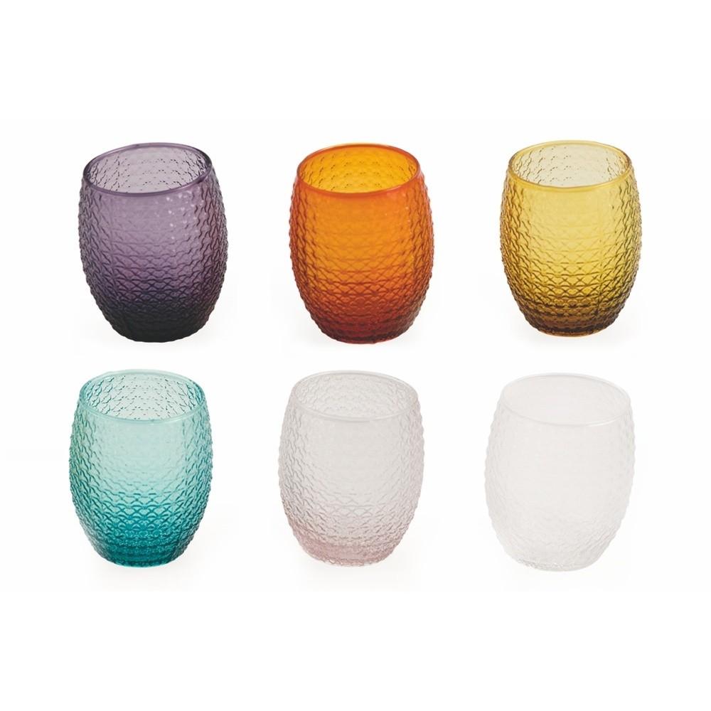 Sada 6 farebných pohárov Villa d'Este Karma