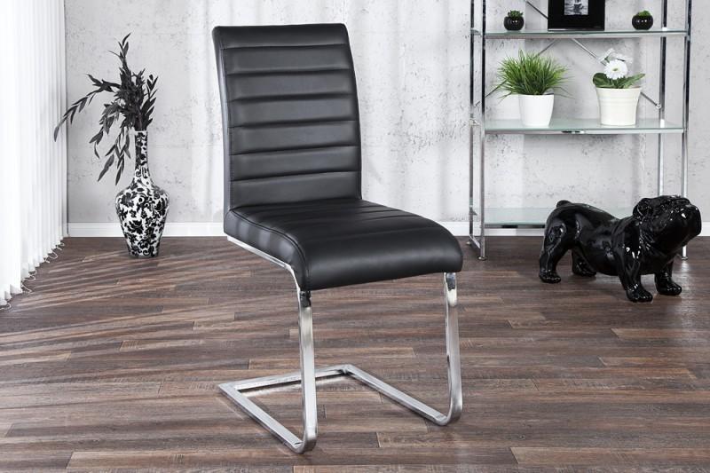 Jedálenská stolička STUART - čierna