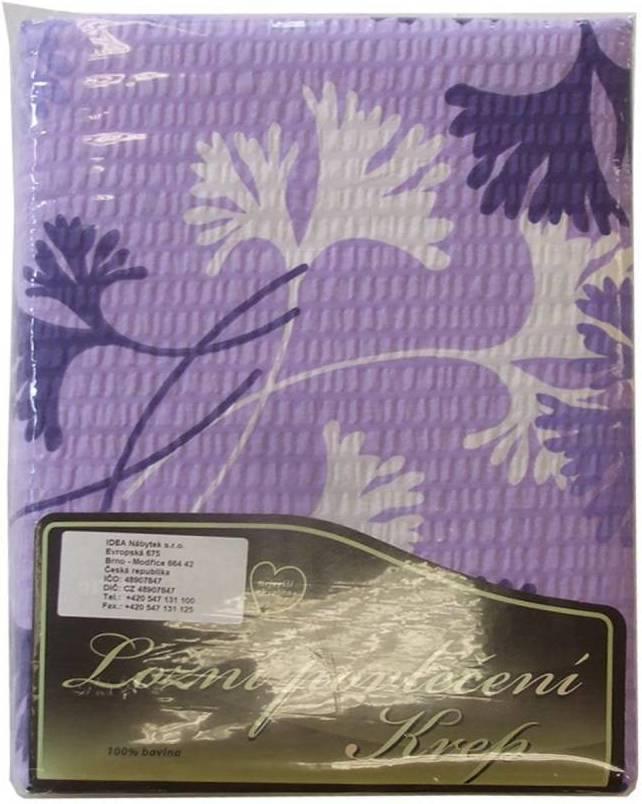 Posteľne pradlo fialovobiele listy